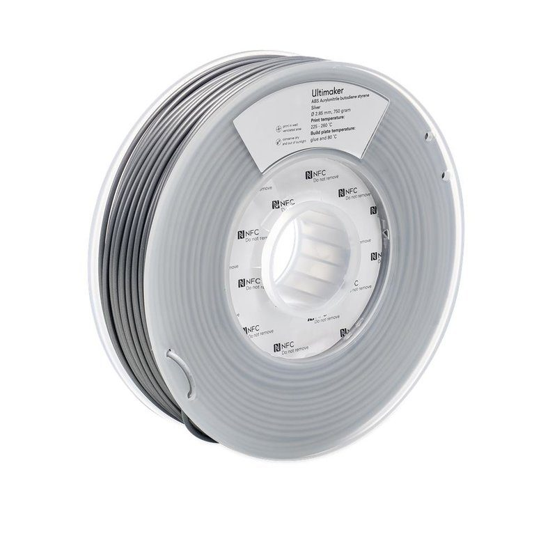 Ultimaker ABS, Farbe: Silver