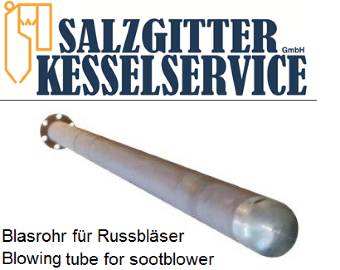 Blasrohr für Russbläser Clyde Bergemann RK-SB / Blowing tube for sootblower Clyde Bergemann RK-SB