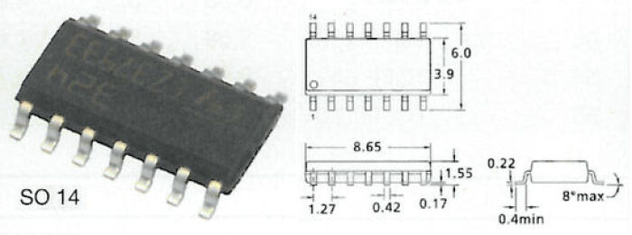 6x Fast Diode Array, SO14, Packing: Stick, CA3039M